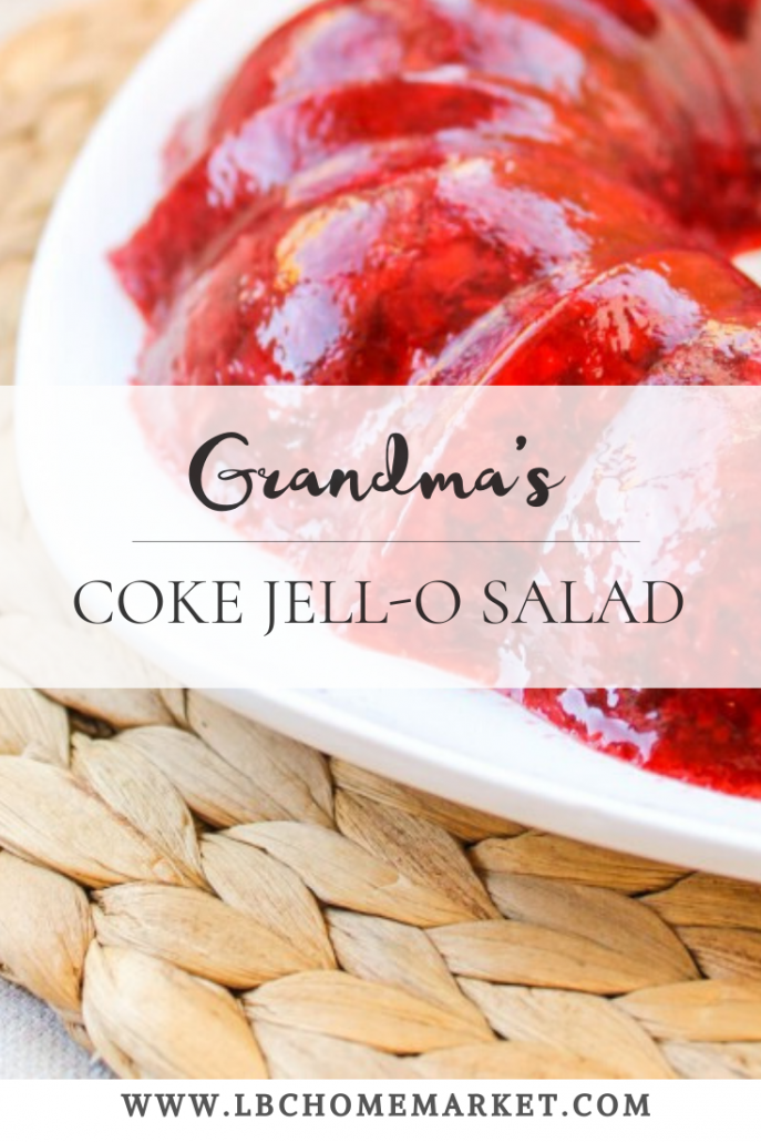 Coke Jell-O Salad is an old school Jell-O recipe that both of my Grandmas made for every Holiday meal. I hope you'll try our version of Coke Jell-O Salad this Holiday season!