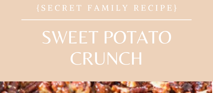 This sweet potato crunch recipe is a family favorite, even our friends that don't like sweet potatoes come back for seconds! Be sure to add this family favorite to your holiday table this year! Get the recipe here: